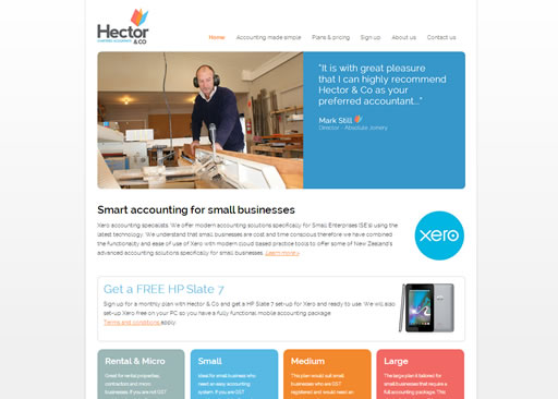Hector and Co chartered accountants website build