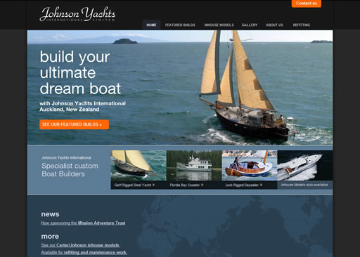 Johnson Yachts International website build